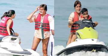 Abhishek Bachchan Celebrate Amitabh Bachchan's Birthday