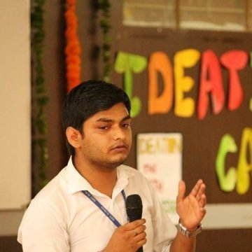 """"""" Vaigyanik Likho"""" a Startup By """"Ankit Tripathi"""" translating to help students to become Vaigyaniks by writing and learning."""