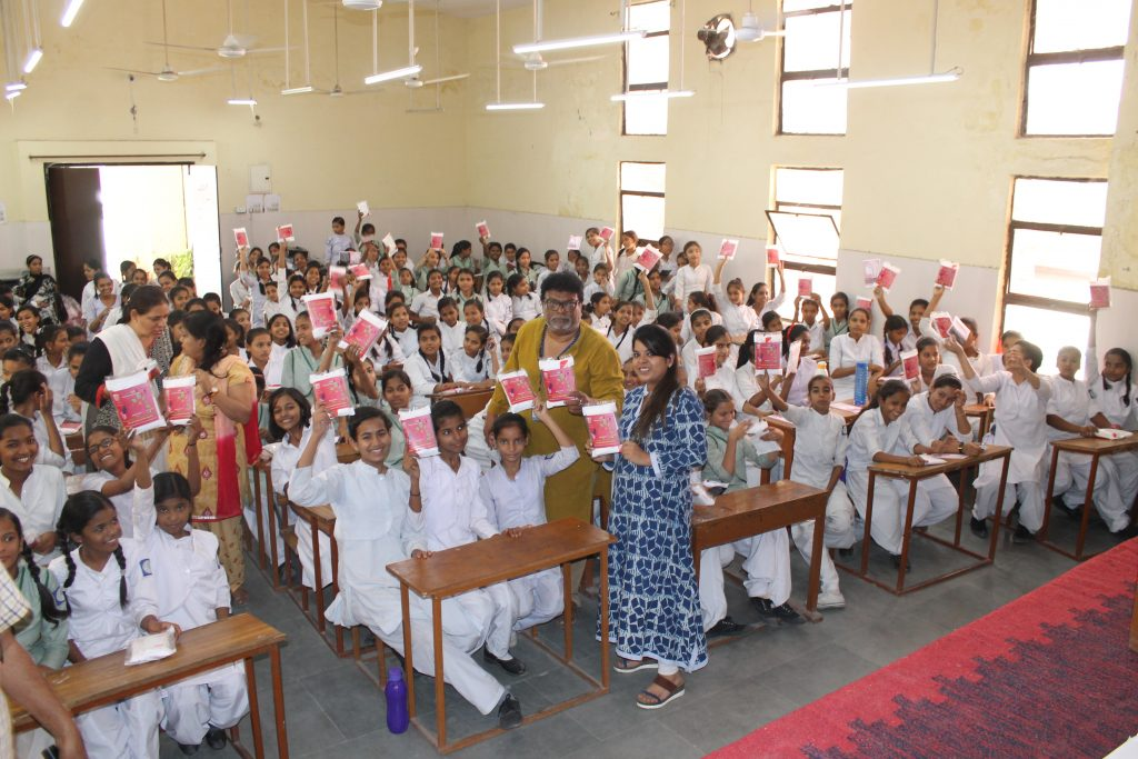 Menstruation awareness and sanitary napkin distribution event by NARII Foundation