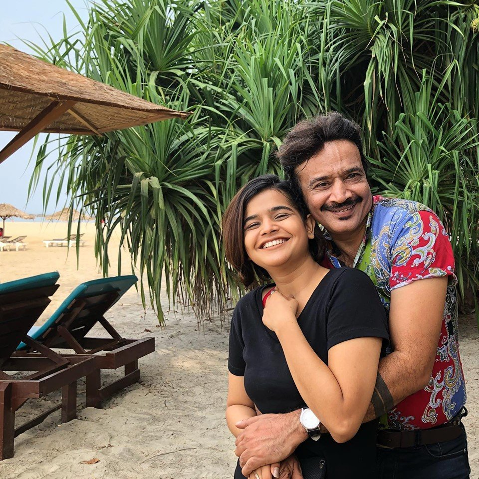 Suhani Shah with her Father