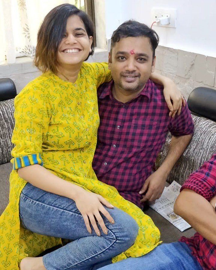Suhani Shah with her brother