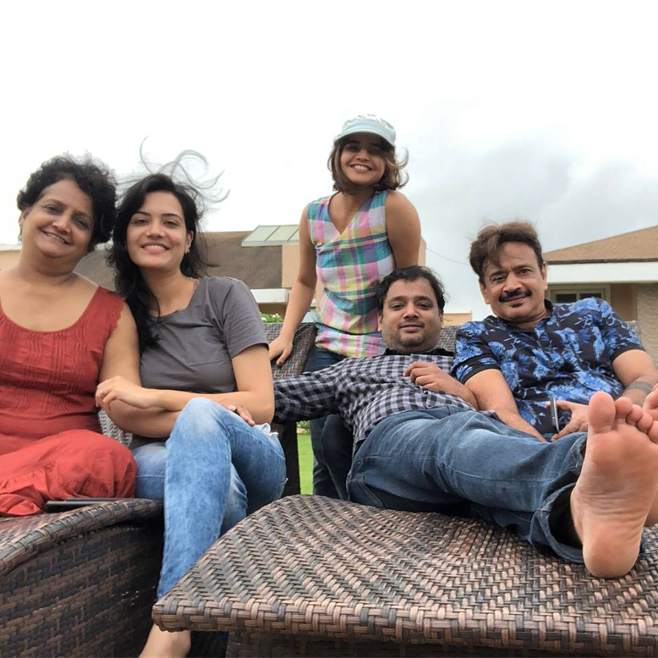 Suhani Shah with her Family