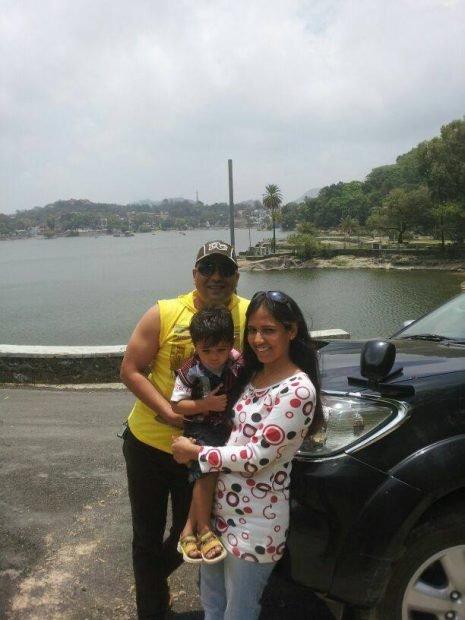 Harshvardhan jain with his family