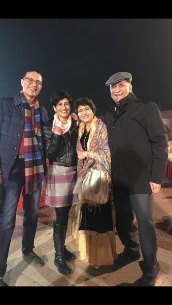 Neeti Palta with her Family