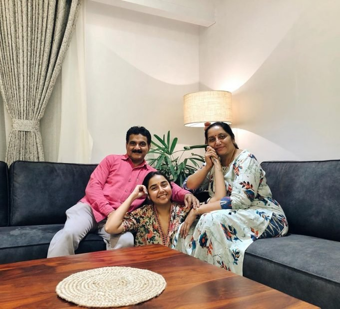prajakta koli with her Mother and Father