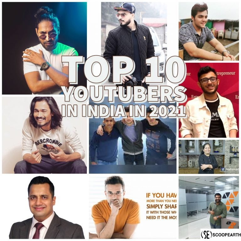 Top 10 YouTubers In India In 2021