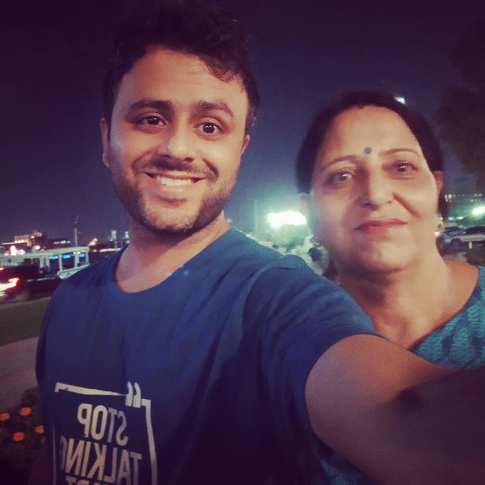 Saurabh Bhatnagar with his Mother