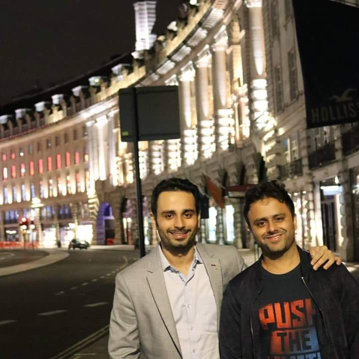 Saurabh Bhatnagar with his brother Rahul Bhatnagar