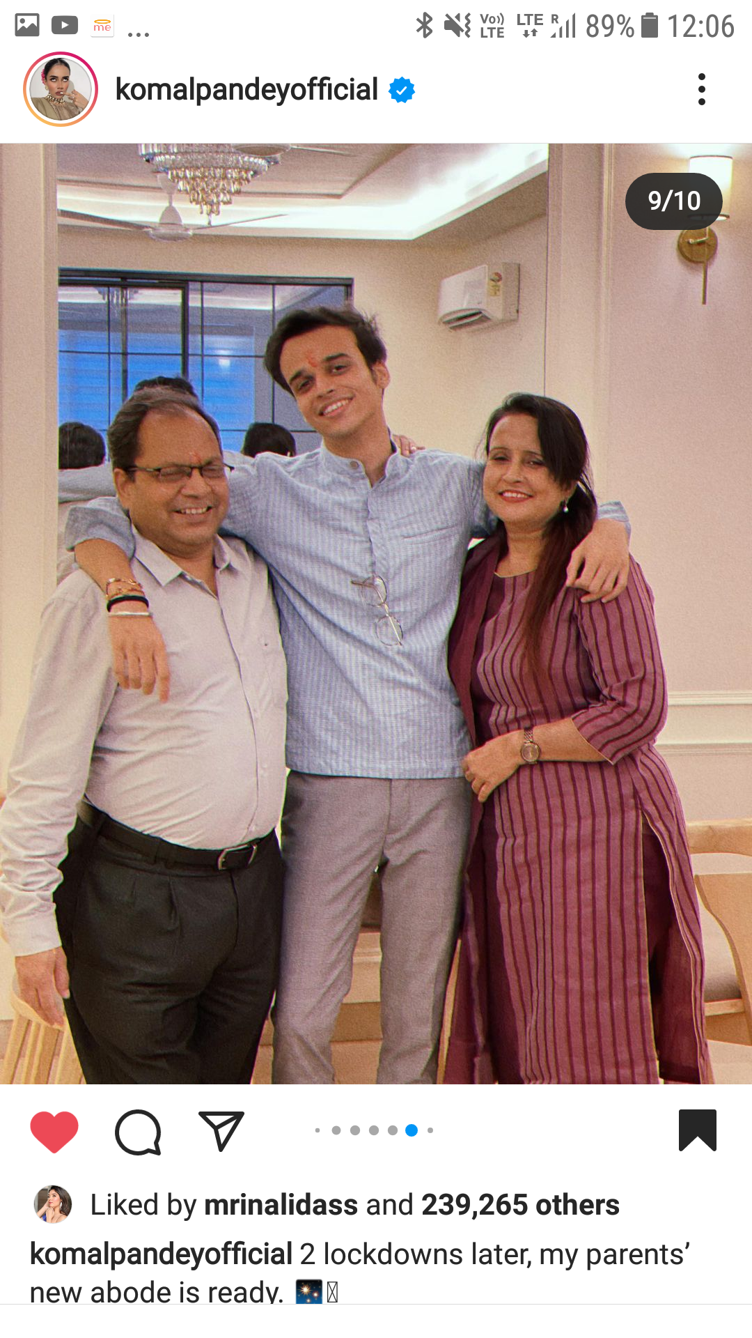 Komal Pandey Family