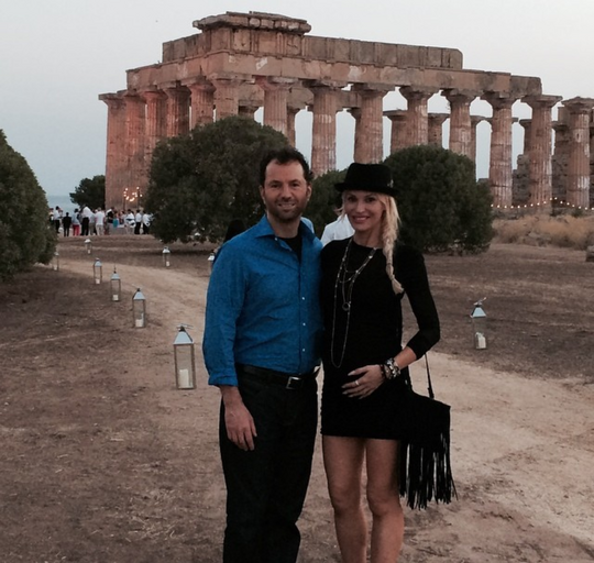 Jolene Blalock With Her Husband Michael Rapino