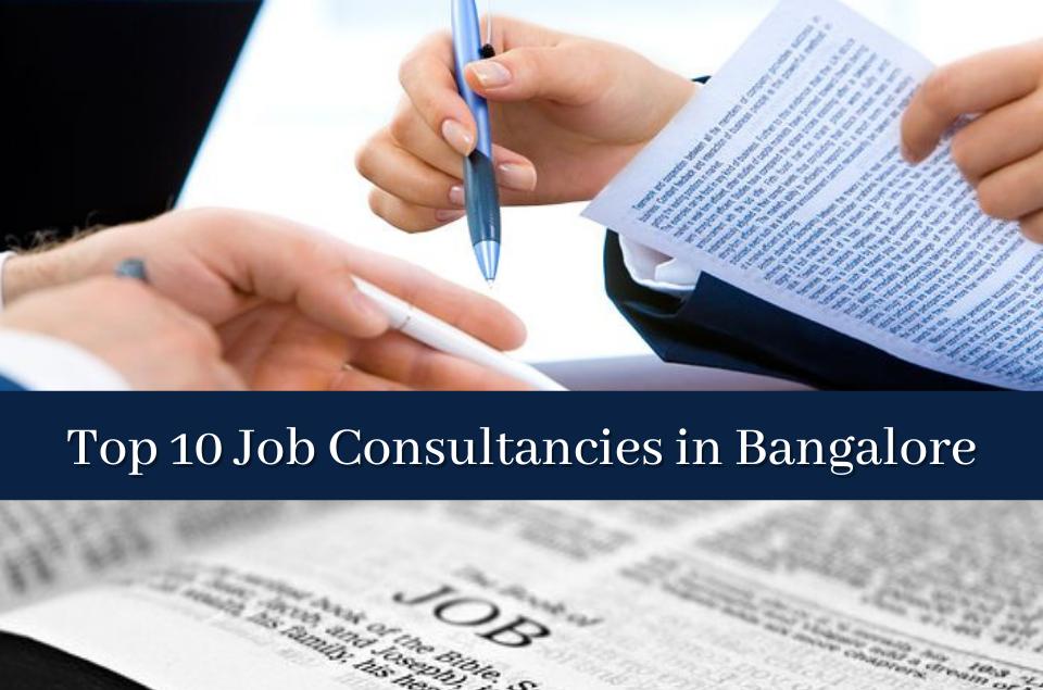 Job Consultancies in Bangalore